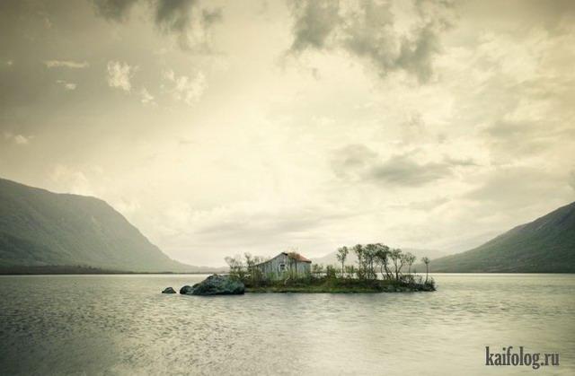 Одинокие дома (40 фото)