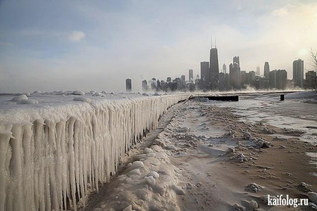 Зима напала на Америку (50 фото)
