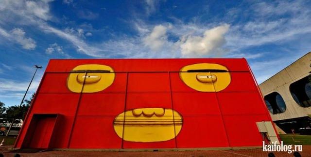 Большие граффити (50 фото)