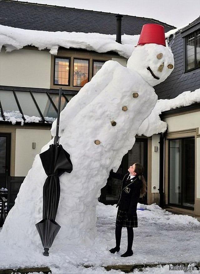 Необычные снеговики своими руками фото