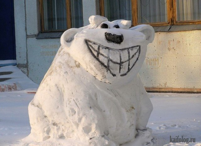 Смешные снеговики (45 фото)