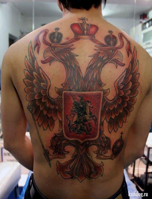 фото татуировок герб российской федерации рассказывать