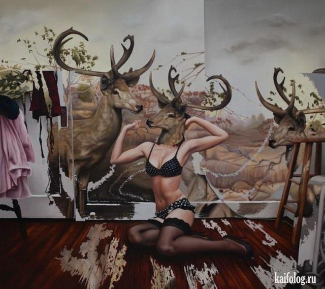 Странное искусство (45 картин)