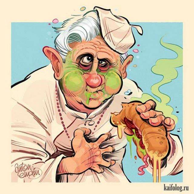 Энтон Эмдин (45 политических карикатур)