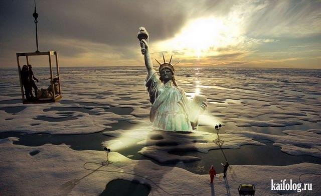Приколы со Статуей Свободы (50 фотожаб)