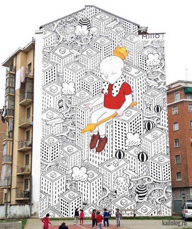 Уличные граффити (45 фото)