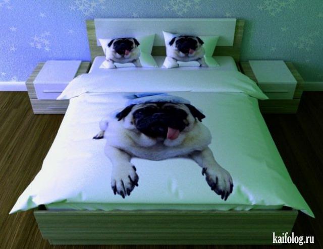 Прикольное постельное бельё (30 фото)