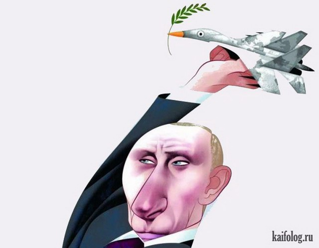 Иностранные карикатуры о России (55 картинок)