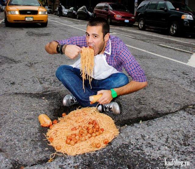 Необычные приколы про еду (35 фото)