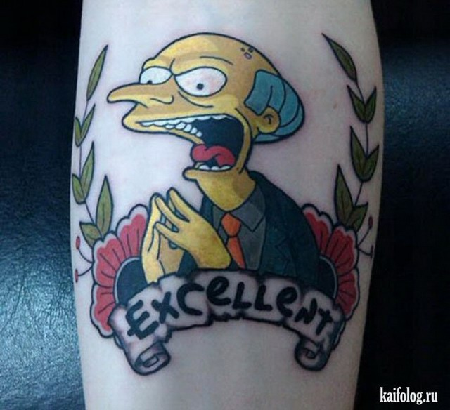 Симпсоны тату (30 фото)