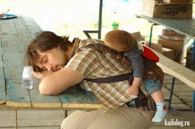 Уставшие родители (35 фото)