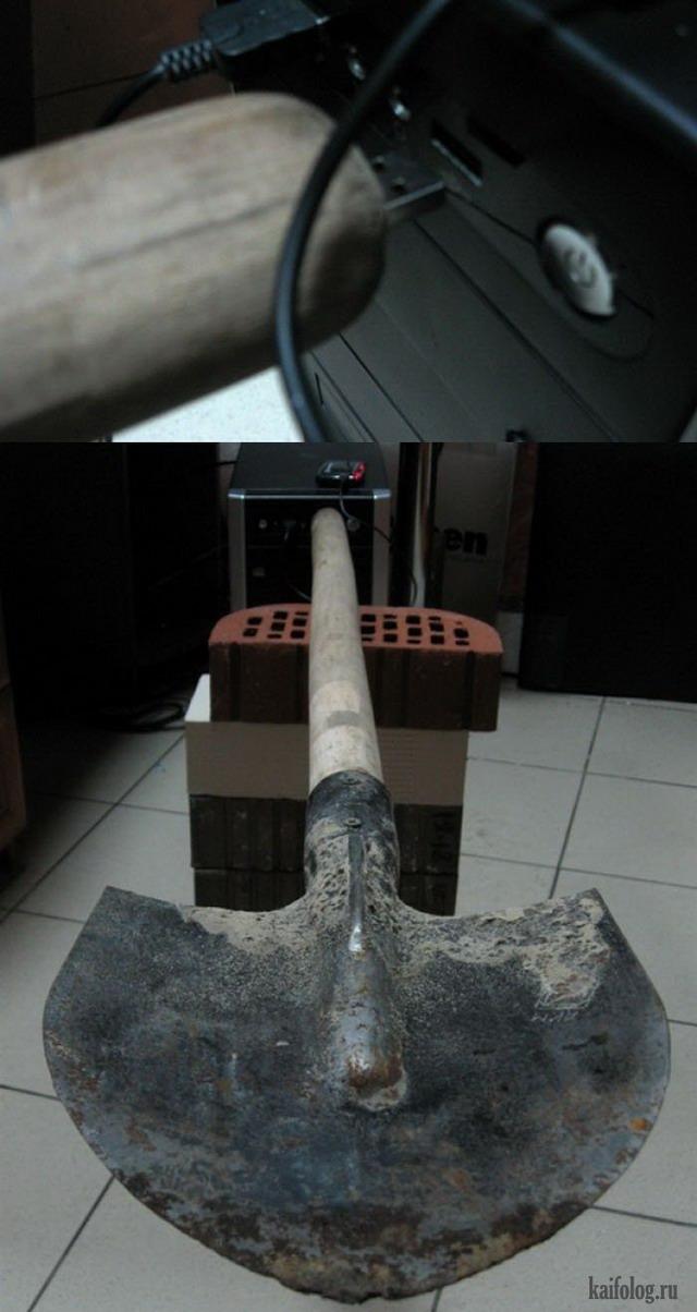Приколы про лопаты (45 фото)