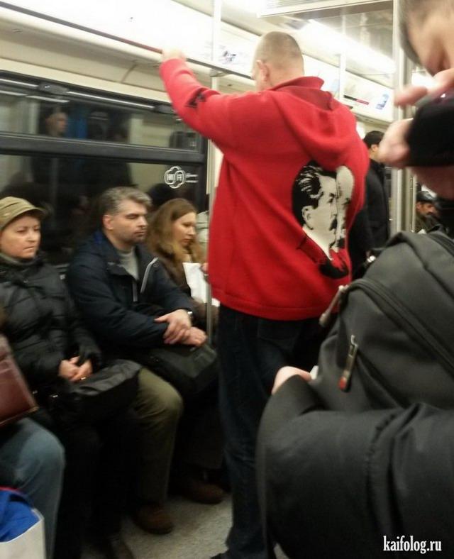 Странные люди в метро (45 фото)