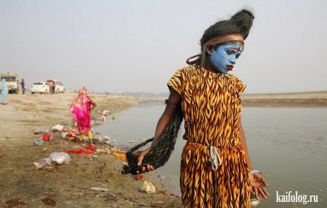 Повседневная жизнь в Индии (50 фото)