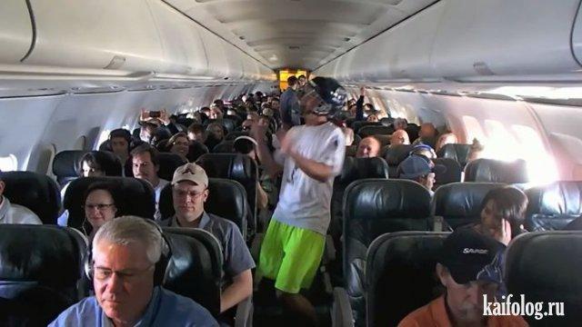 Кошмарные пассажиры самолётов (35 фото)