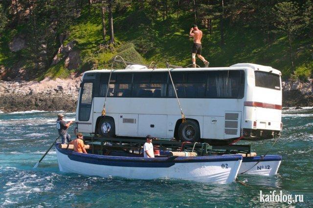 Приколы с лодками (50 фото)