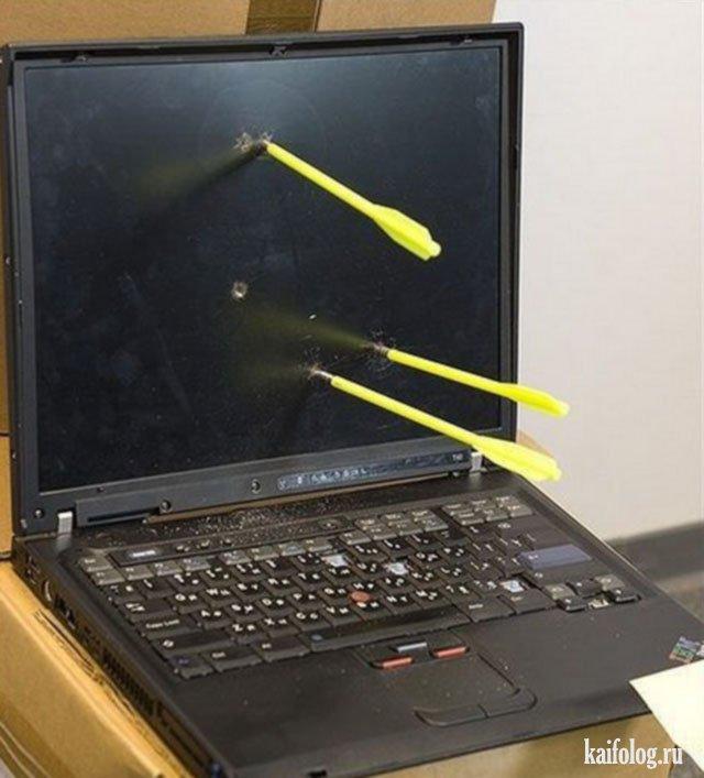 Ноутбук фото прикол вариант