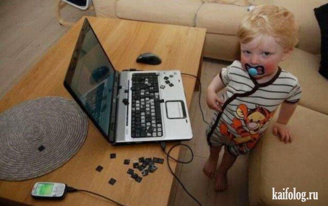 Фото приколы с ноутбуками (50 фото)