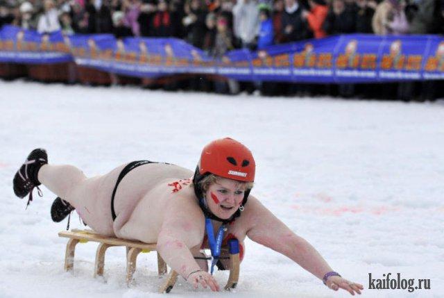 Зимние девушки (35 фото)