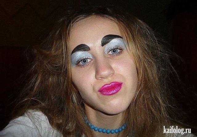 Ужасный макияж (45 фото)