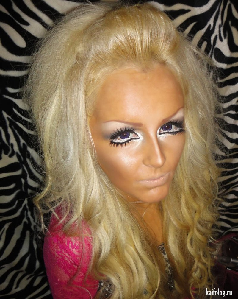 Неудачный макияж девушек