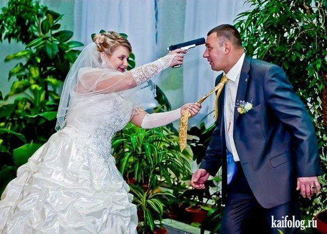 Смешные свадебные фото (40 фотографий и видео)