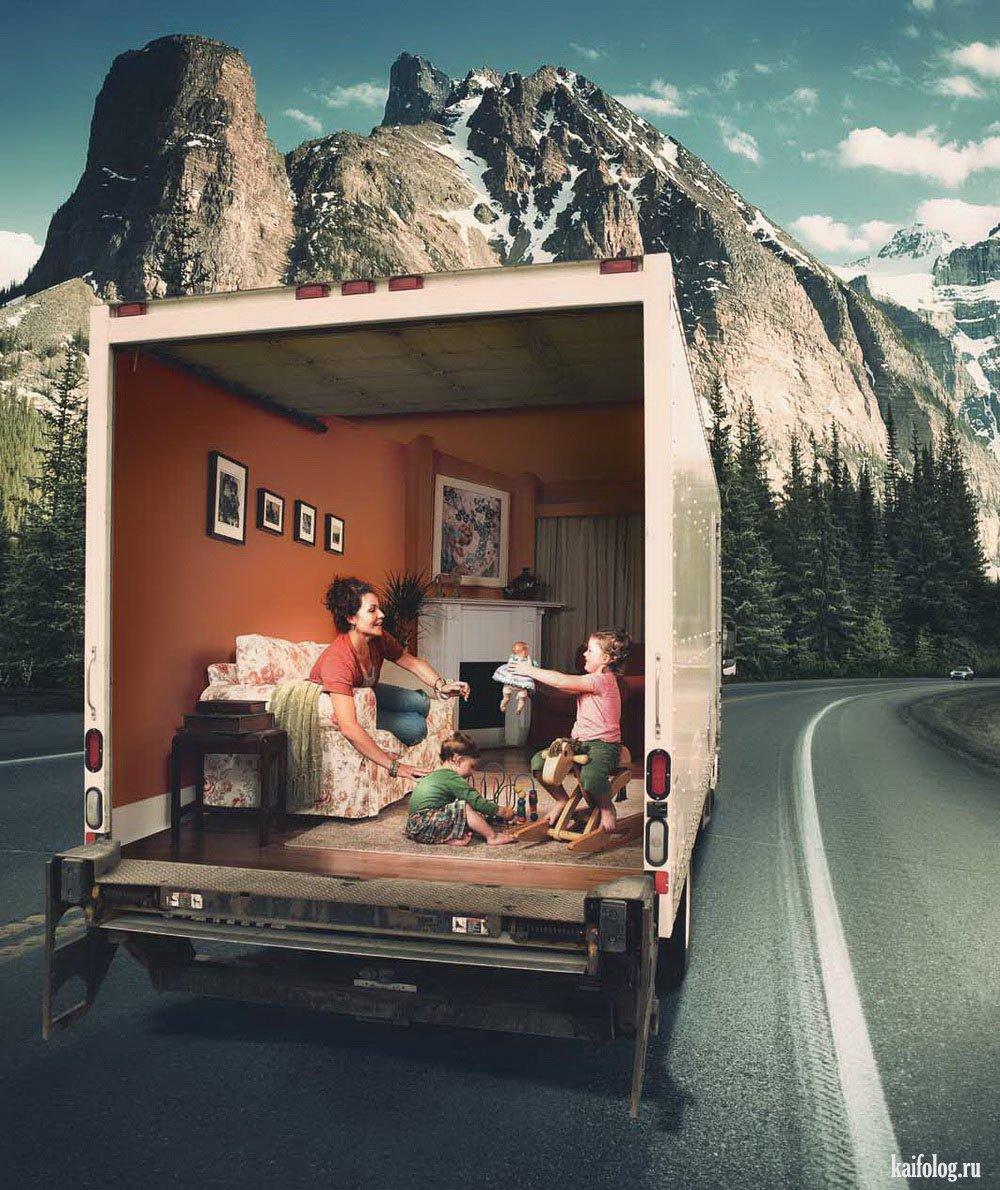 Оригинальная рекламная компания фото