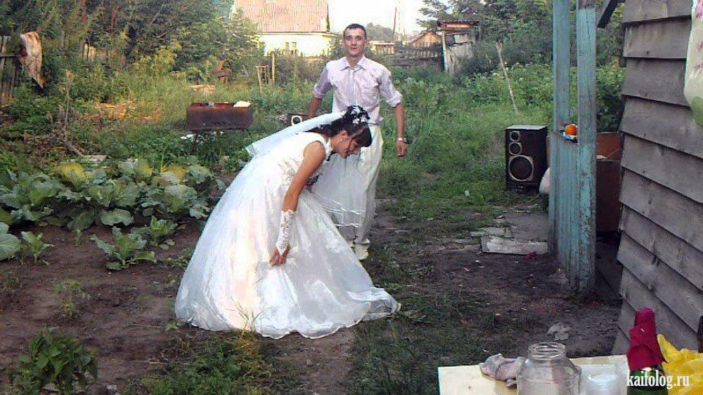 Смешные фото со свадьбы в деревне