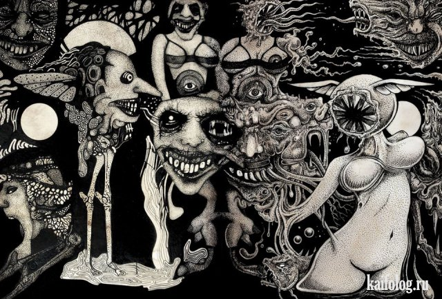 Странные картины (40 рисунков)