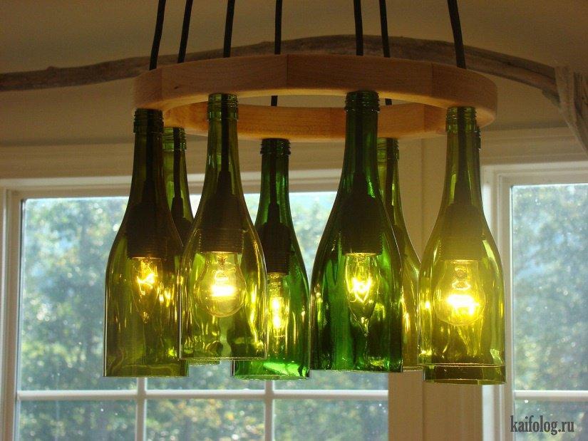 Из стеклянных бутылок своими руками