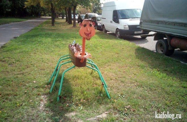 Прикольные и необычные клумбы (40 фото): http://kaifolog.ru/photo-prikoly/7044-prikolnye-klumby-40-foto.html