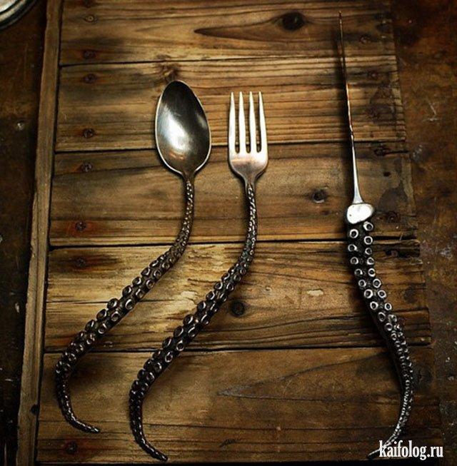 Прикольные ложки и вилки (40 фото)