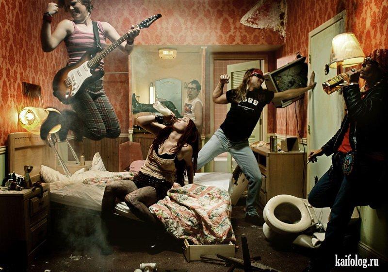 Русская студенческая вечеринка на квартире