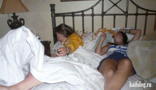 Приколы про пьяных девушек (45 фото)