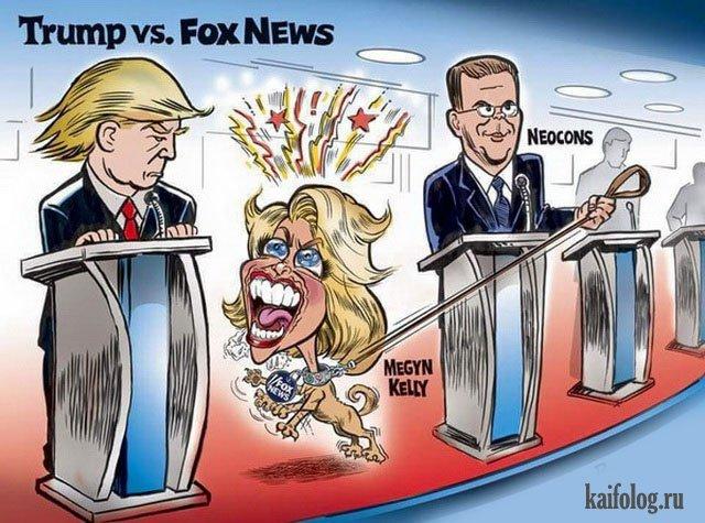 Карикатуры на Трампа (40 картинок)