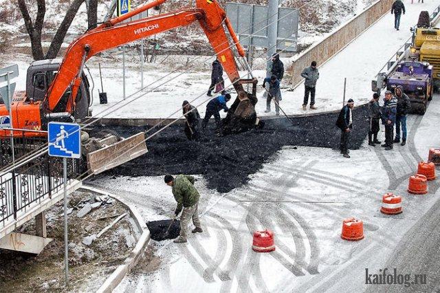 Как в России кладут асфальт (35 фото и видео)