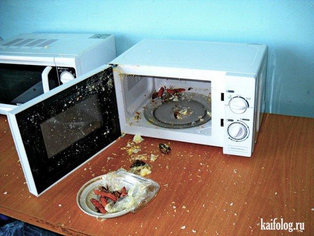 Приколы и неудачи с микроволновками (40 фото)