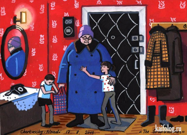 Зоя Черкасская. Детство в СССР (35 картин).