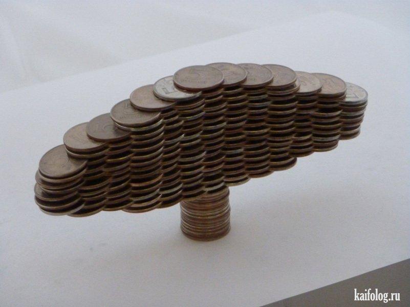 Скульптуры из монет своими руками 98