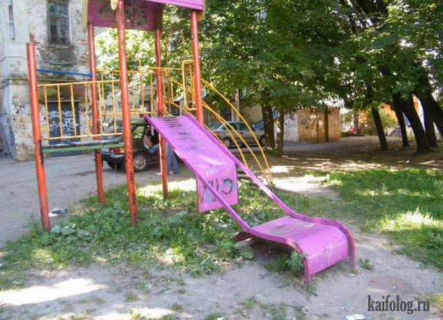 Ужасные детские горки (40 приколов)