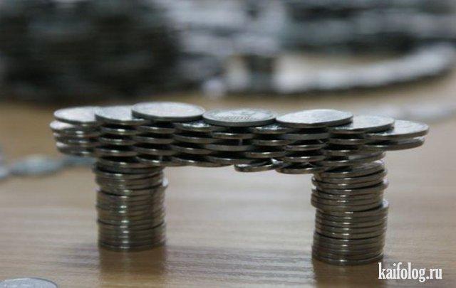 Фигуры из монет (35 фото)