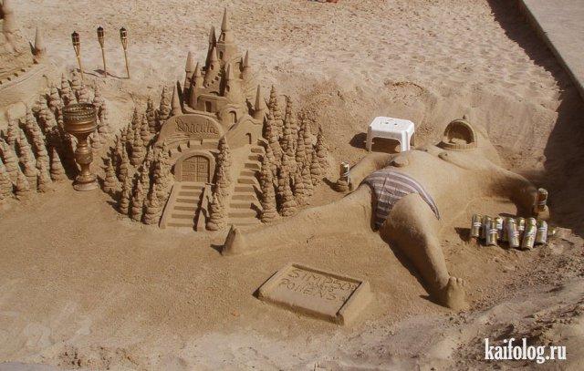 Фигуры из песка (40 фото)