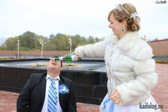 Гениальные свадебные фото (50 фото и видео)