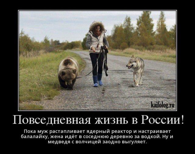 Демотиваторы про Россию (45 фото)
