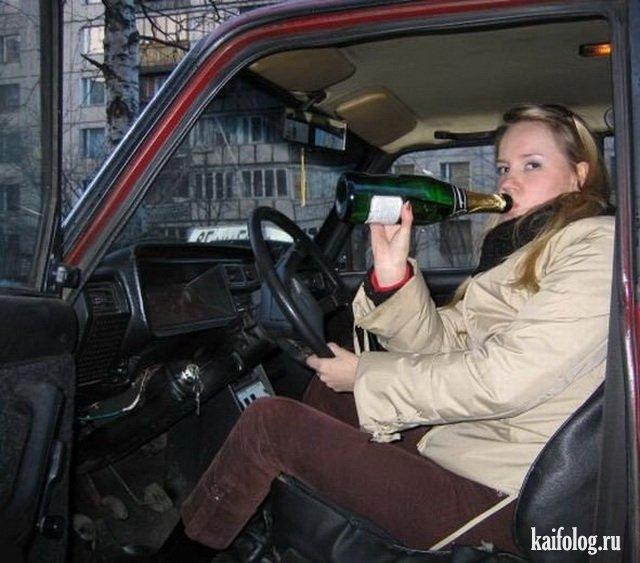 Когда девушки за рулём (45 фото)