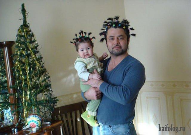 Папы с детьми (40 приколов)
