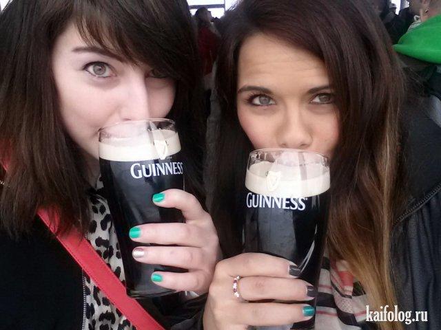 Девушки и пиво (40 фото)