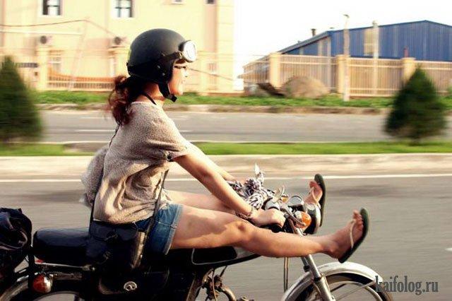 Девушки-байкеры (45 фото)
