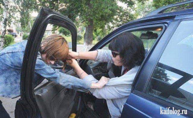 Бабы за рулём (40 фото)