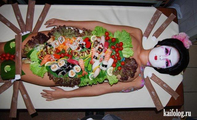 Необычная подача блюд (35 фото)